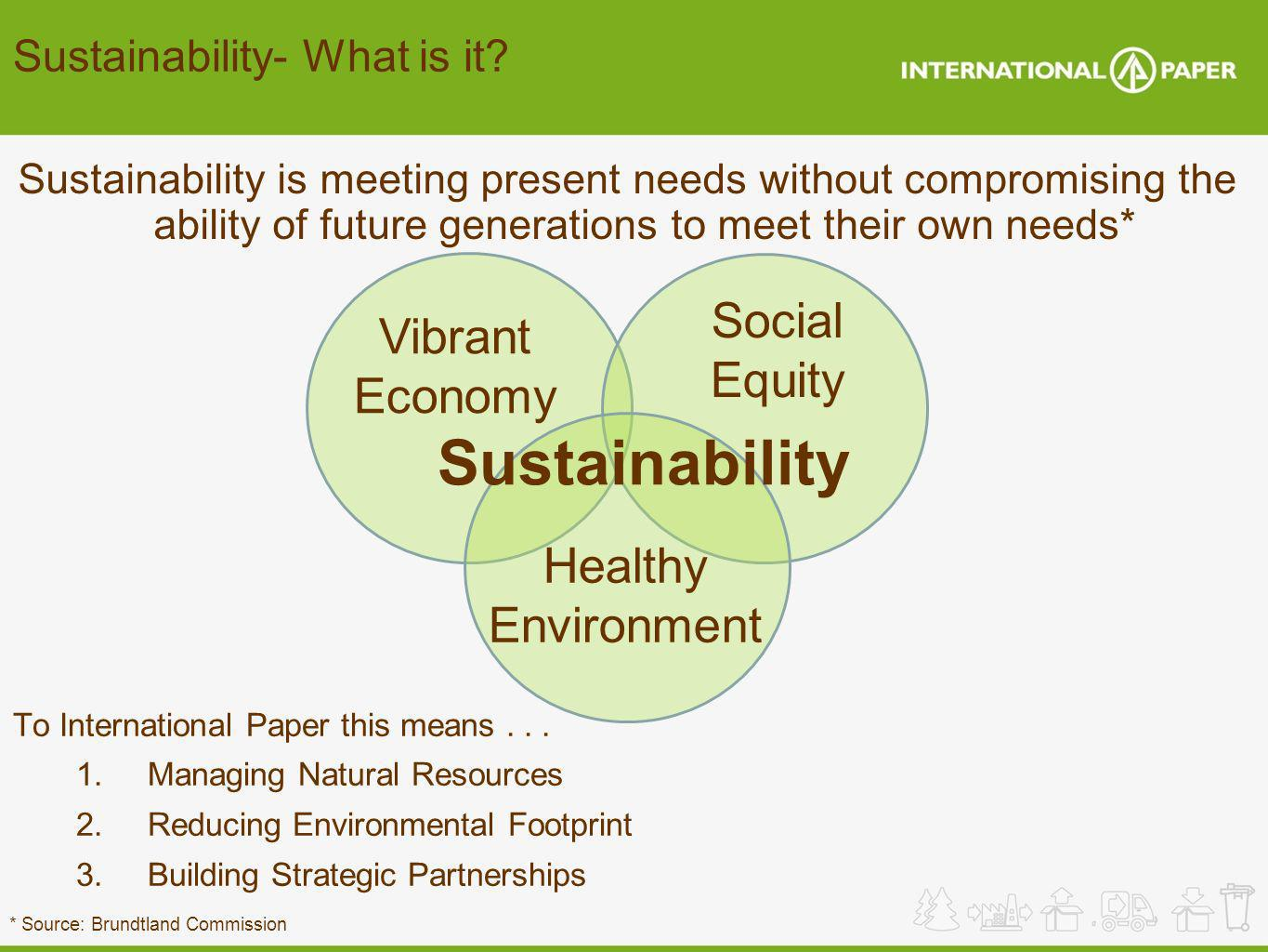 Sustainability Social Vibrant Equity Economy Healthy Environment