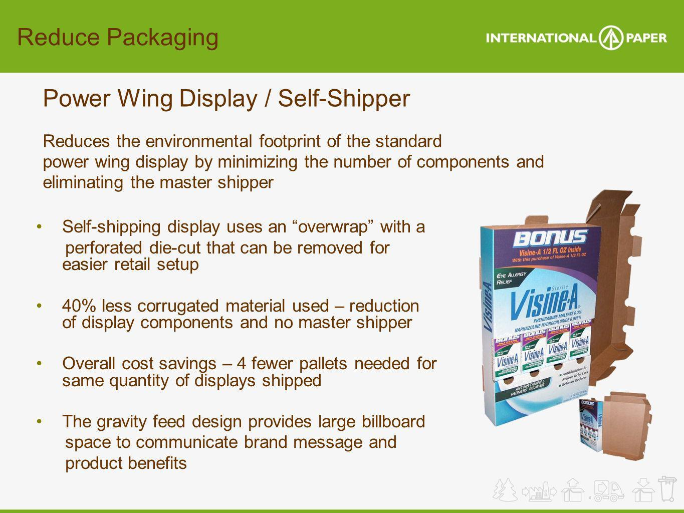 Power Wing Display / Self-Shipper