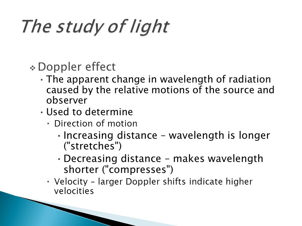 The study of light Doppler effect