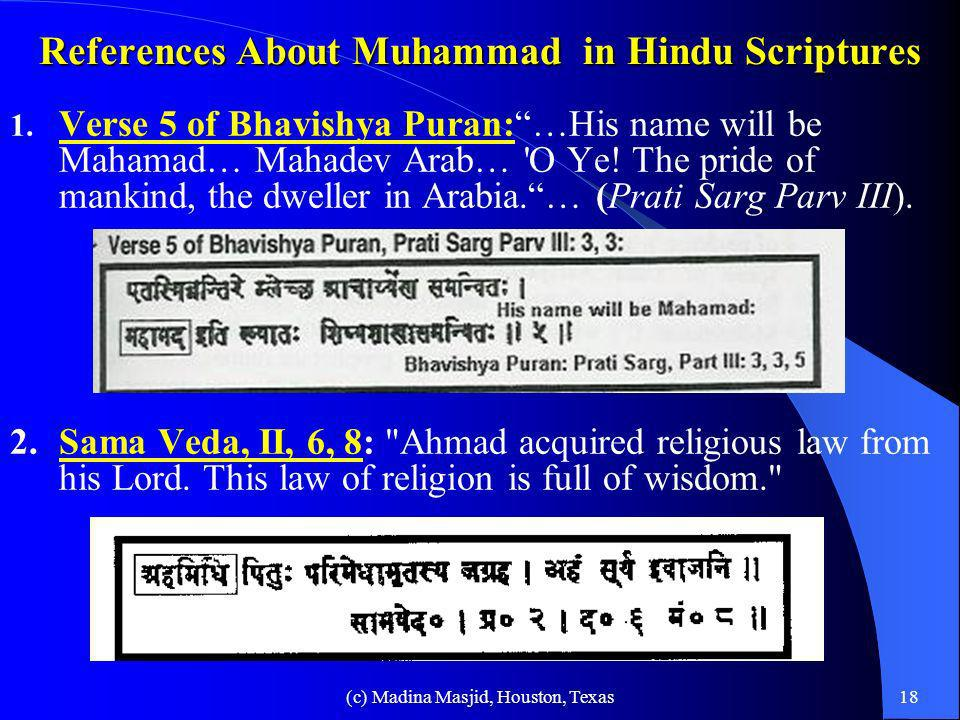 References About Muhammad in Hindu Scriptures