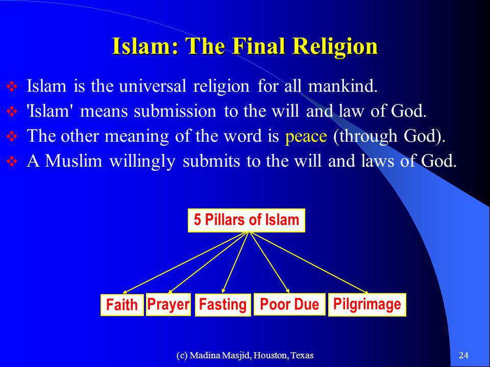 Islam: The Final Religion