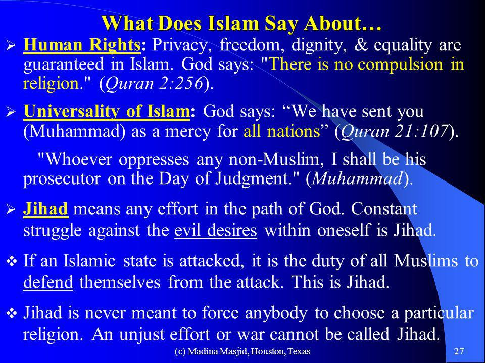 What Does Islam Say About…