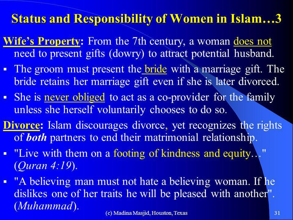 Status and Responsibility of Women in Islam…3