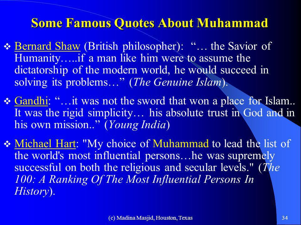 Some Famous Quotes About Muhammad