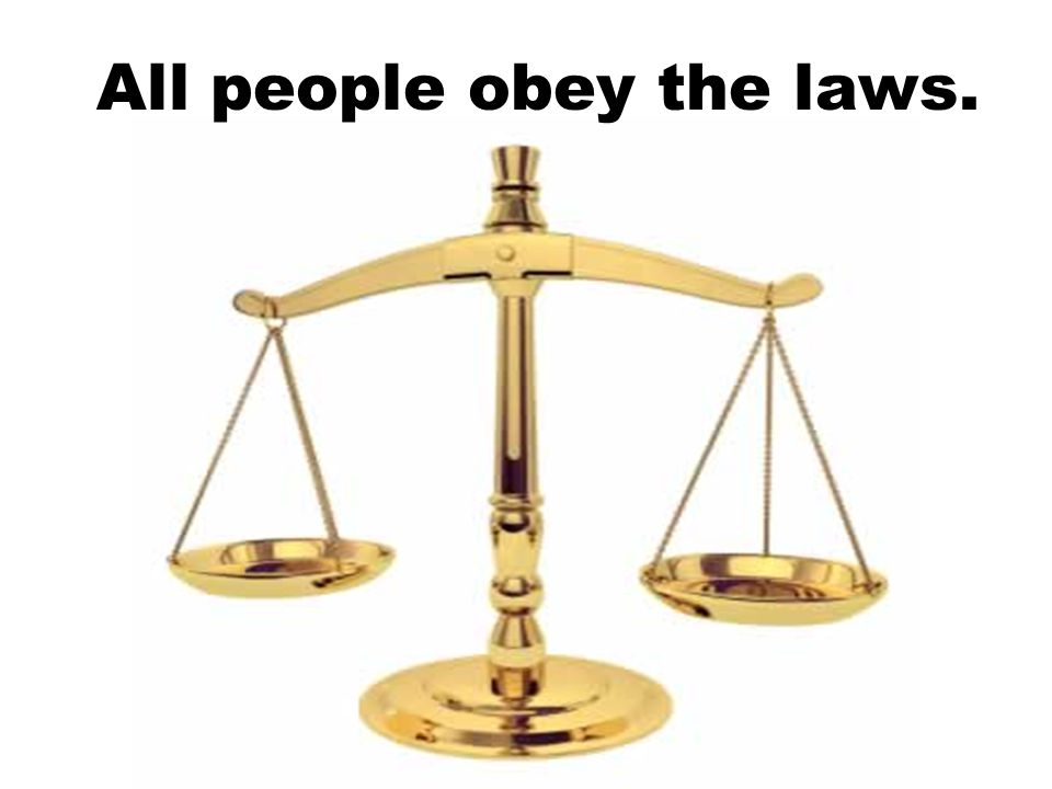 All people obey the laws.