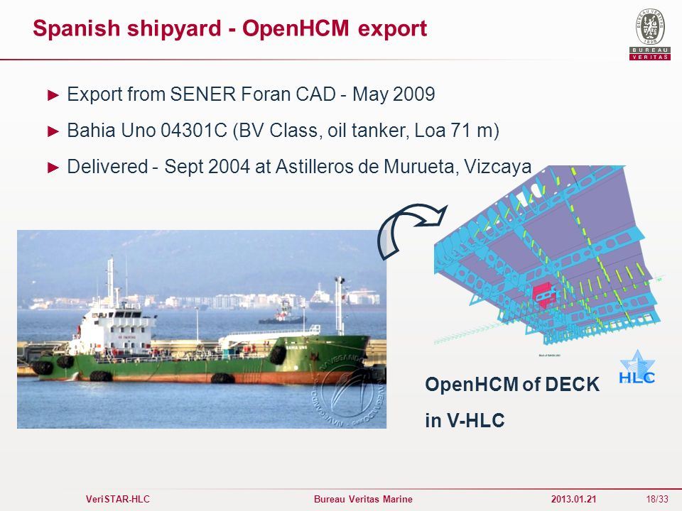 Spanish shipyard - OpenHCM export