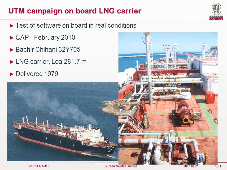 UTM campaign on board LNG carrier