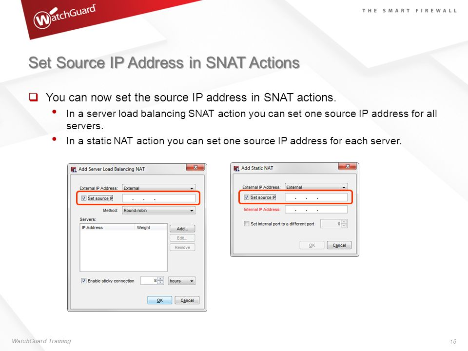 Set Source IP Address in SNAT Actions