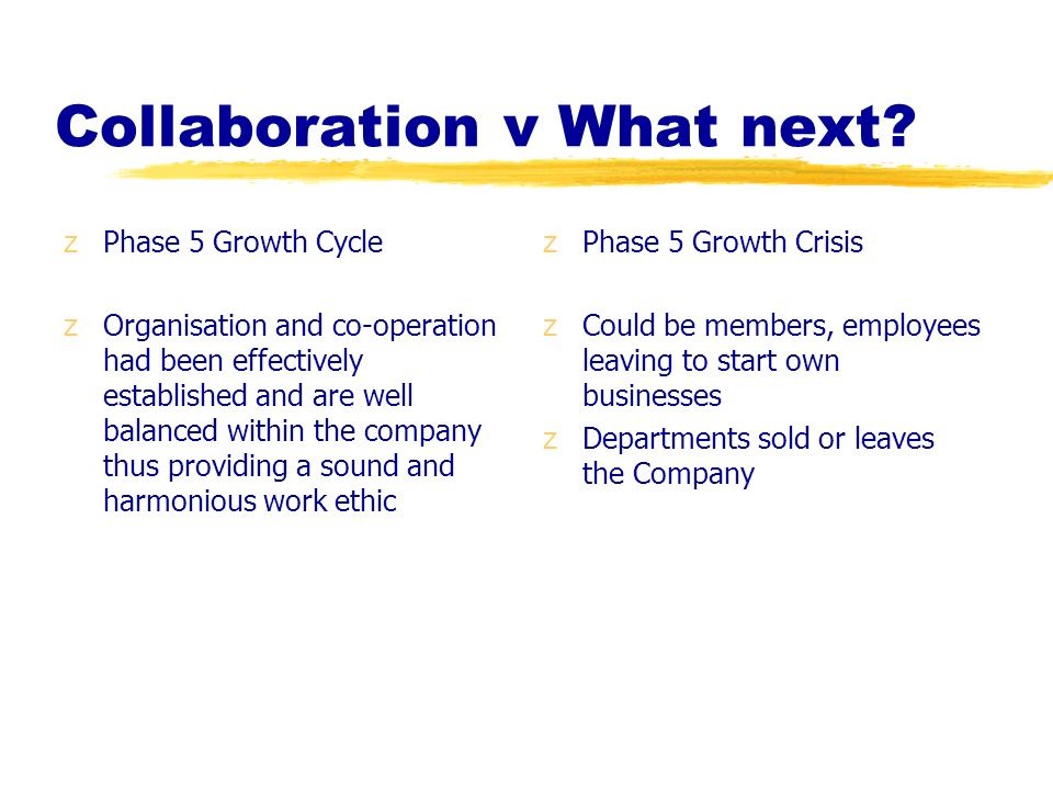 Collaboration v What next