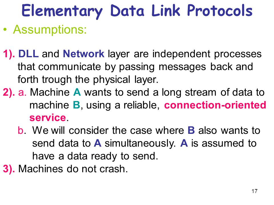 Elementary Data Link Protocols