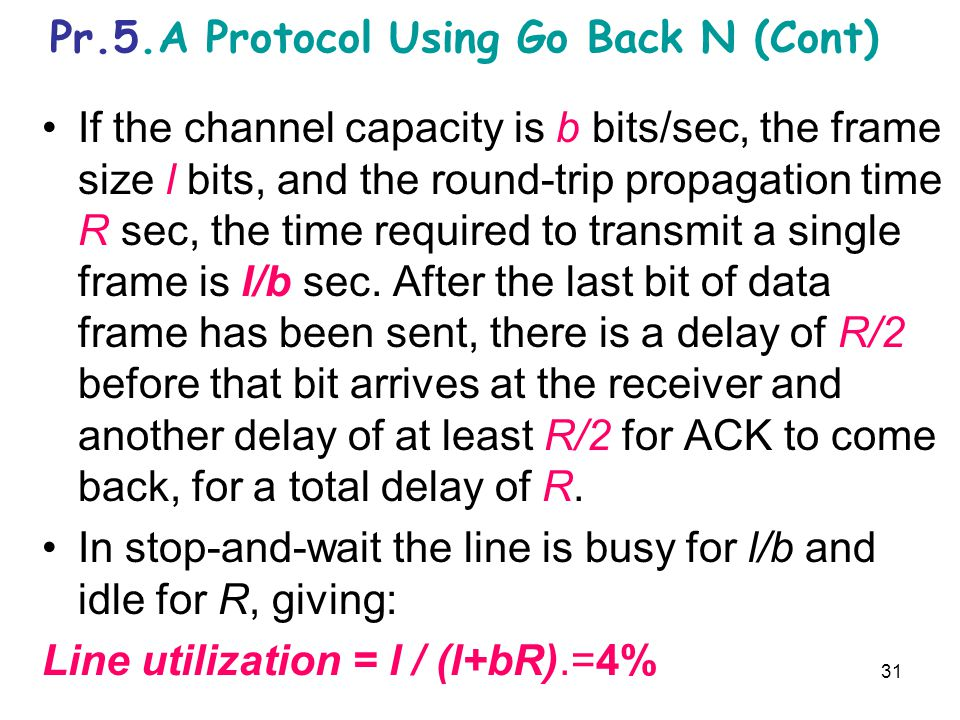 Pr.5.A Protocol Using Go Back N (Cont)