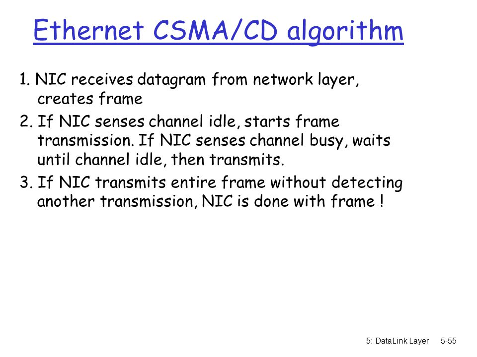Ethernet CSMA/CD algorithm
