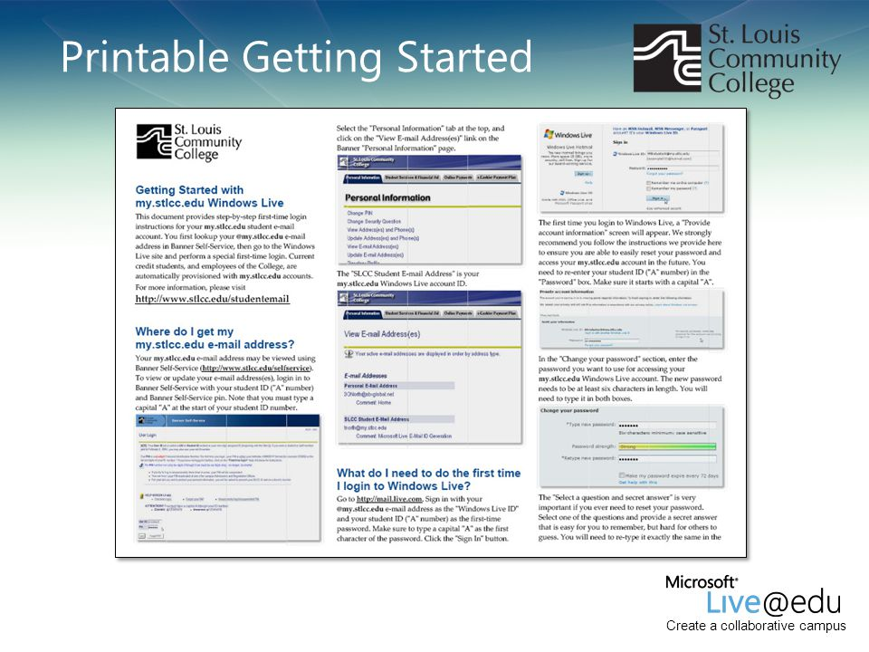 Printable Getting Started