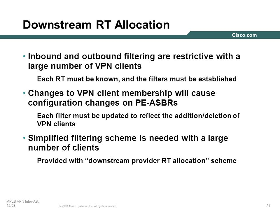 Downstream RT Allocation