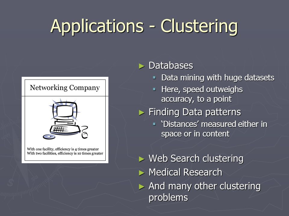 Applications - Clustering