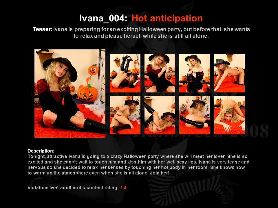 Ivana_004: Hot anticipation Teaser: Ivana is preparing for an exciting Halloween party, but before that, she wants to relax and please herself while she is still all alone.