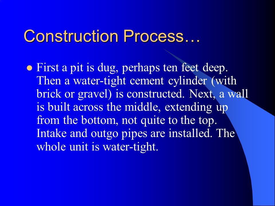 Construction Process…
