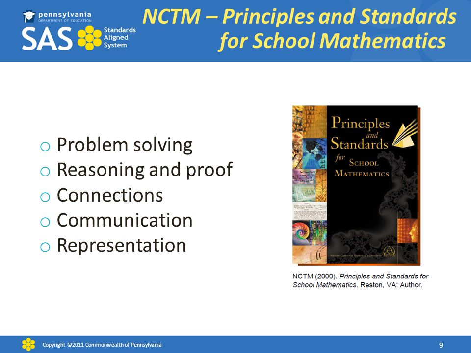 NCTM – Principles and Standards for School Mathematics