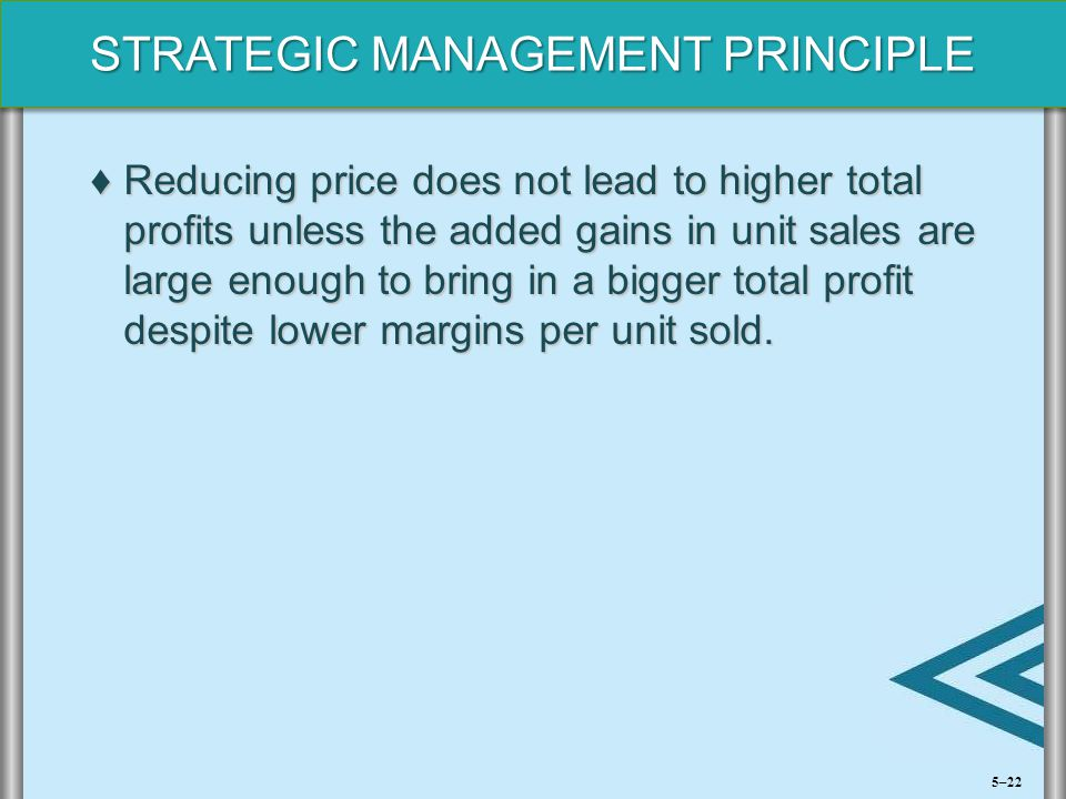 Reducing price does not lead to higher total profits unless the added gains in unit sales are large enough to bring in a bigger total profit despite lower margins per unit sold.