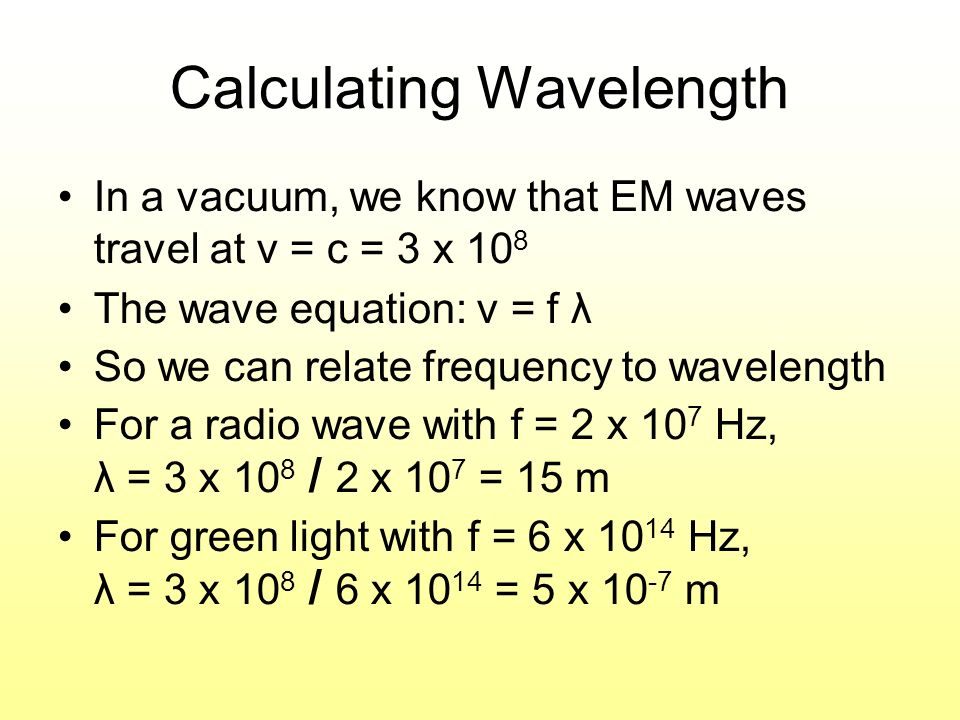 Calculating Wavelength