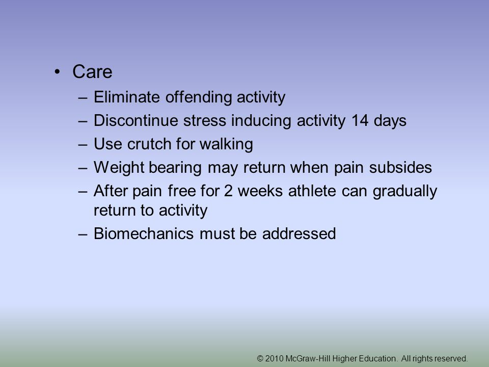 Care Eliminate offending activity