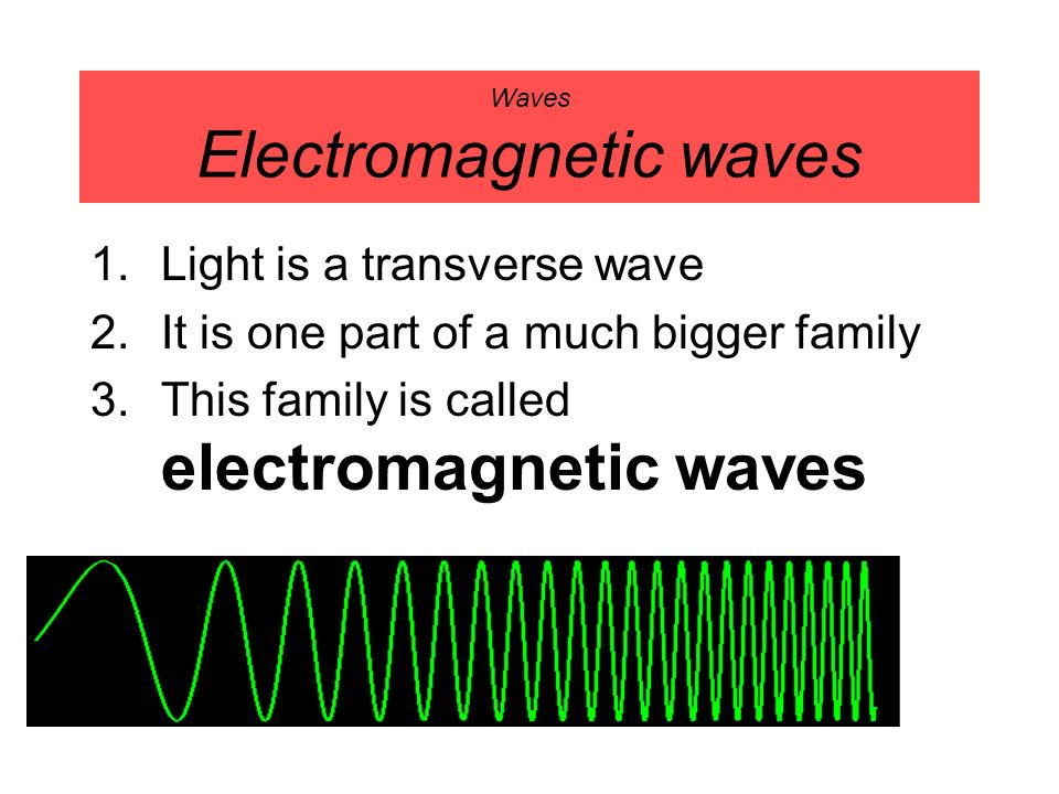 Waves Electromagnetic waves