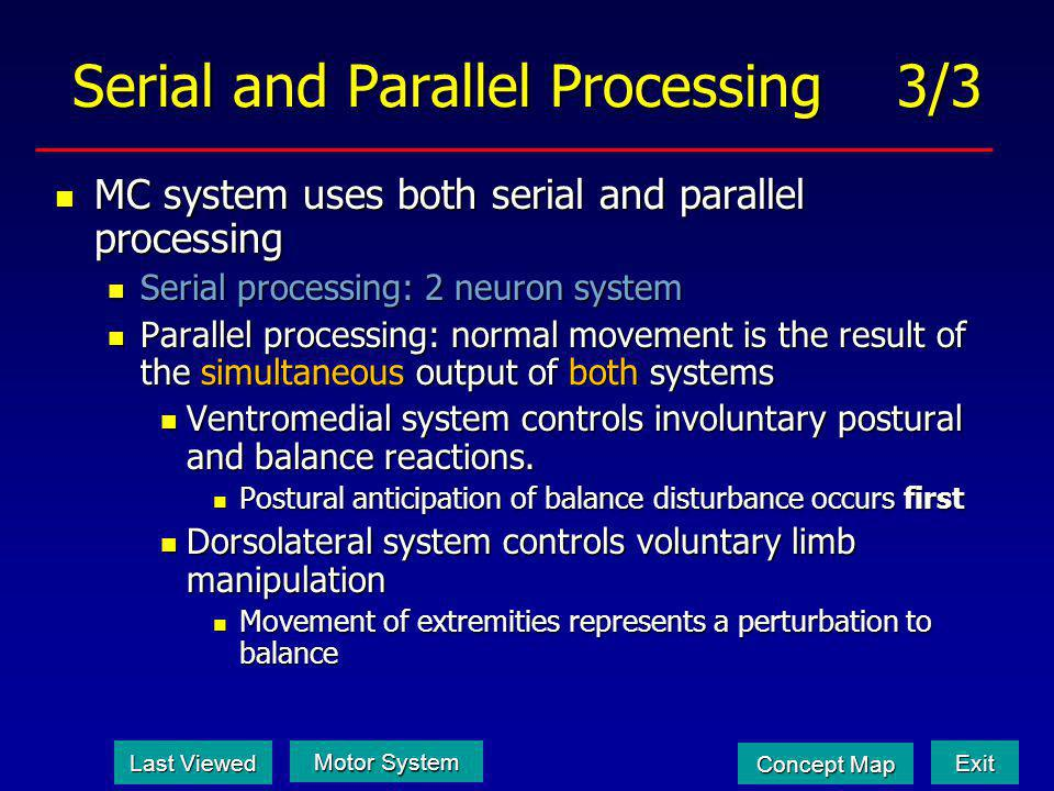 Serial and Parallel Processing 3/3
