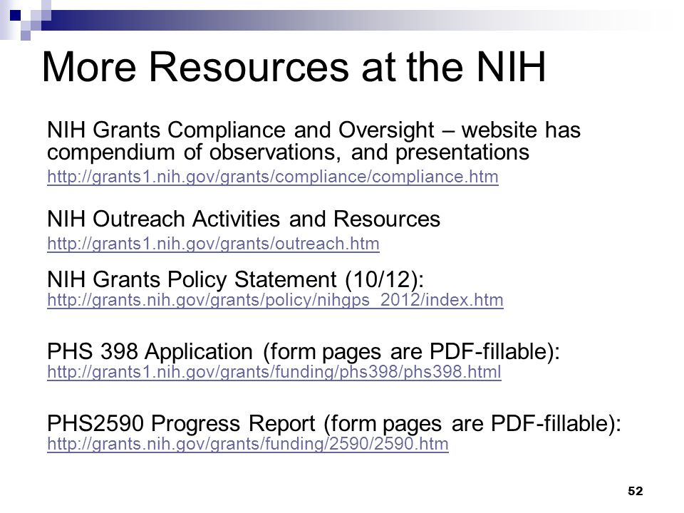 More Resources at the NIH