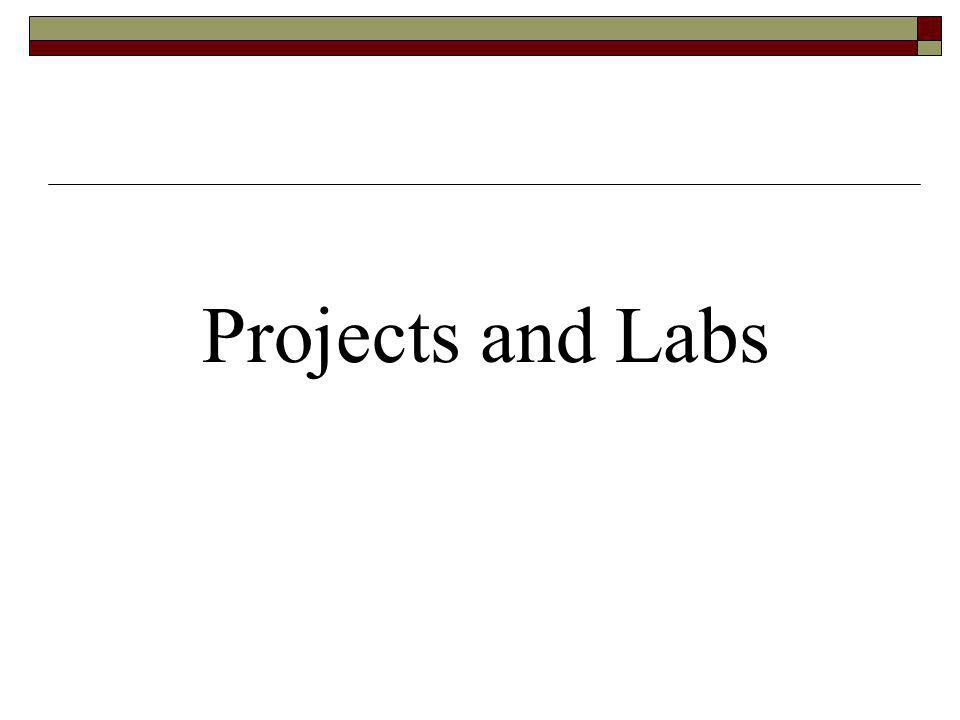 Projects and Labs