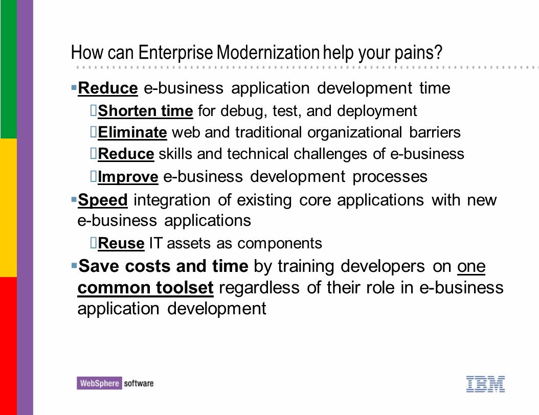 How can Enterprise Modernization help your pains