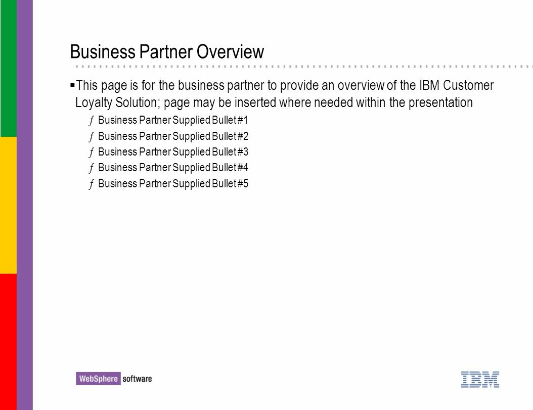 Business Partner Overview