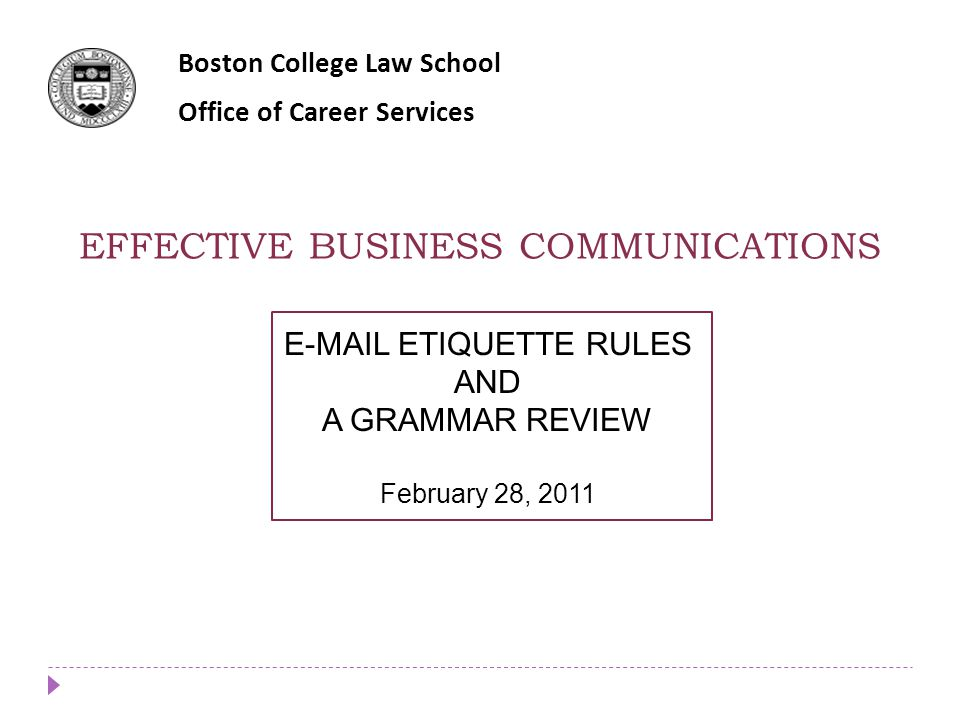 EFFECTIVE BUSINESS COMMUNICATIONS