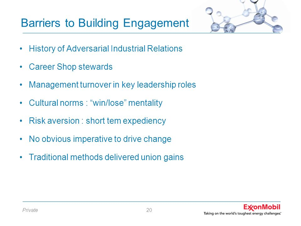 Barriers to Building Engagement