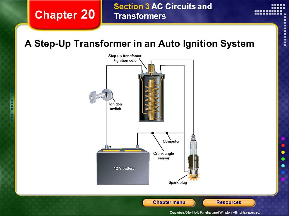 A Step-Up Transformer in an Auto Ignition System