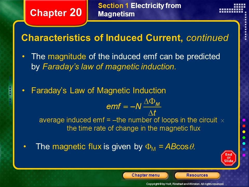 Characteristics of Induced Current, continued