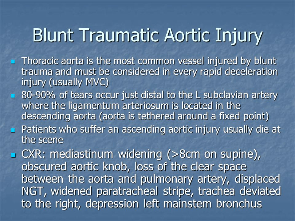 Blunt Traumatic Aortic Injury