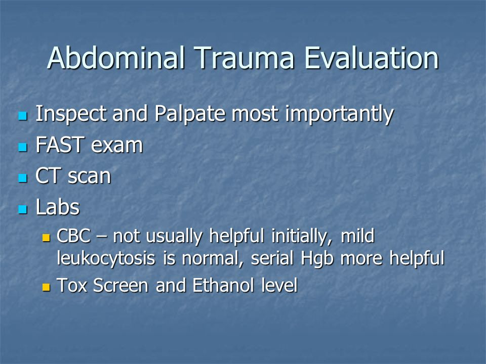 Abdominal Trauma Evaluation