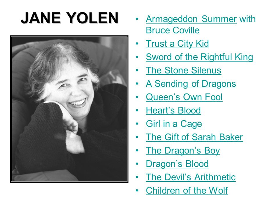 JANE YOLEN Armageddon Summer with Bruce Coville Trust a City Kid