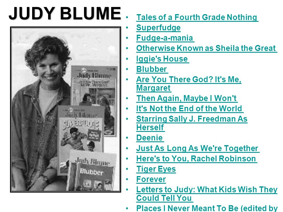 JUDY BLUME Tales of a Fourth Grade Nothing Superfudge Fudge-a-mania