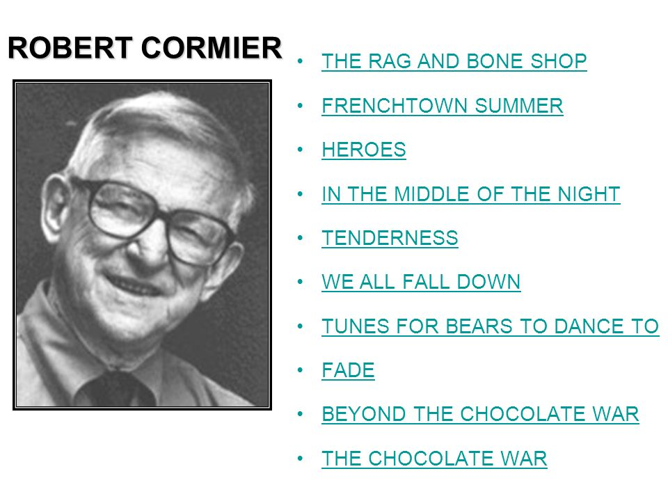 ROBERT CORMIER THE RAG AND BONE SHOP FRENCHTOWN SUMMER HEROES