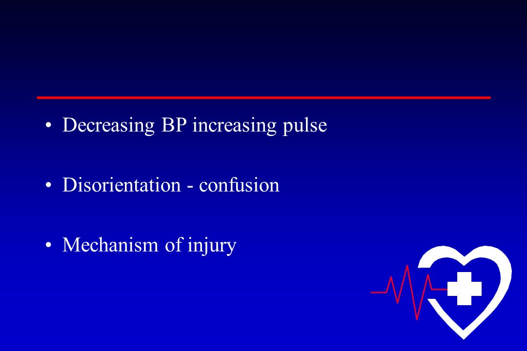 Decreasing BP increasing pulse