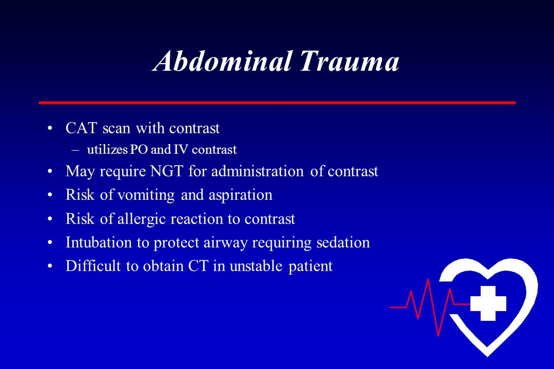 Abdominal Trauma CAT scan with contrast