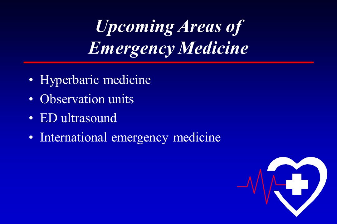 Upcoming Areas of Emergency Medicine