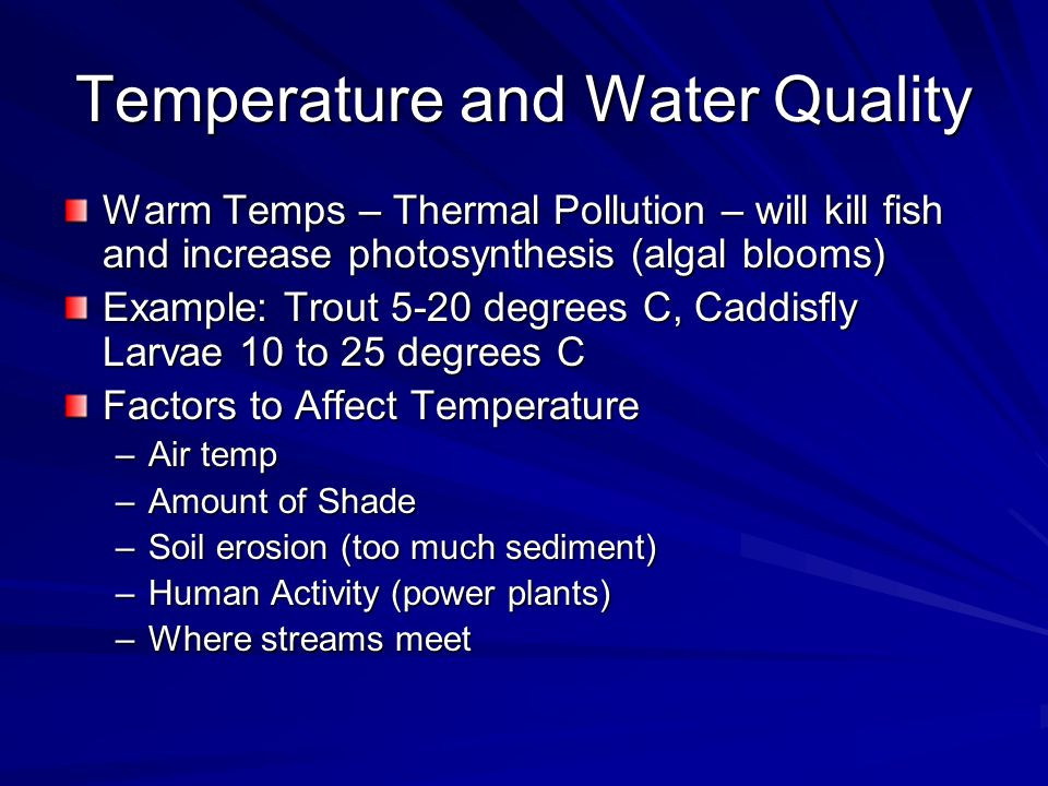 Temperature and Water Quality