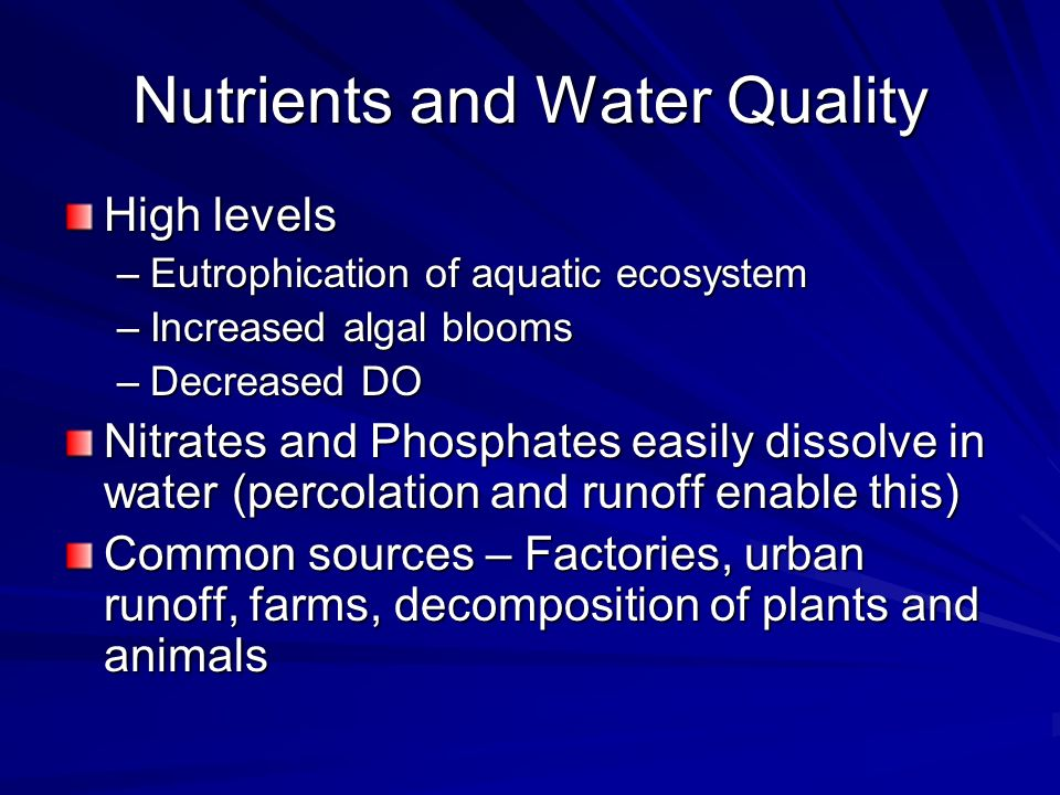 Nutrients and Water Quality