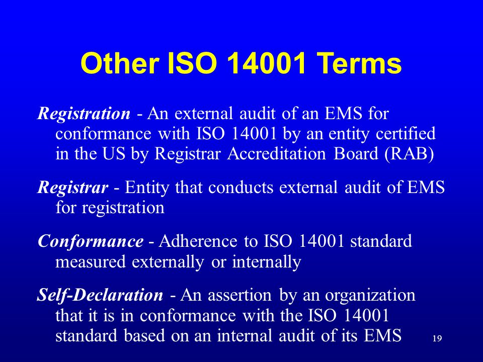 Other ISO Terms