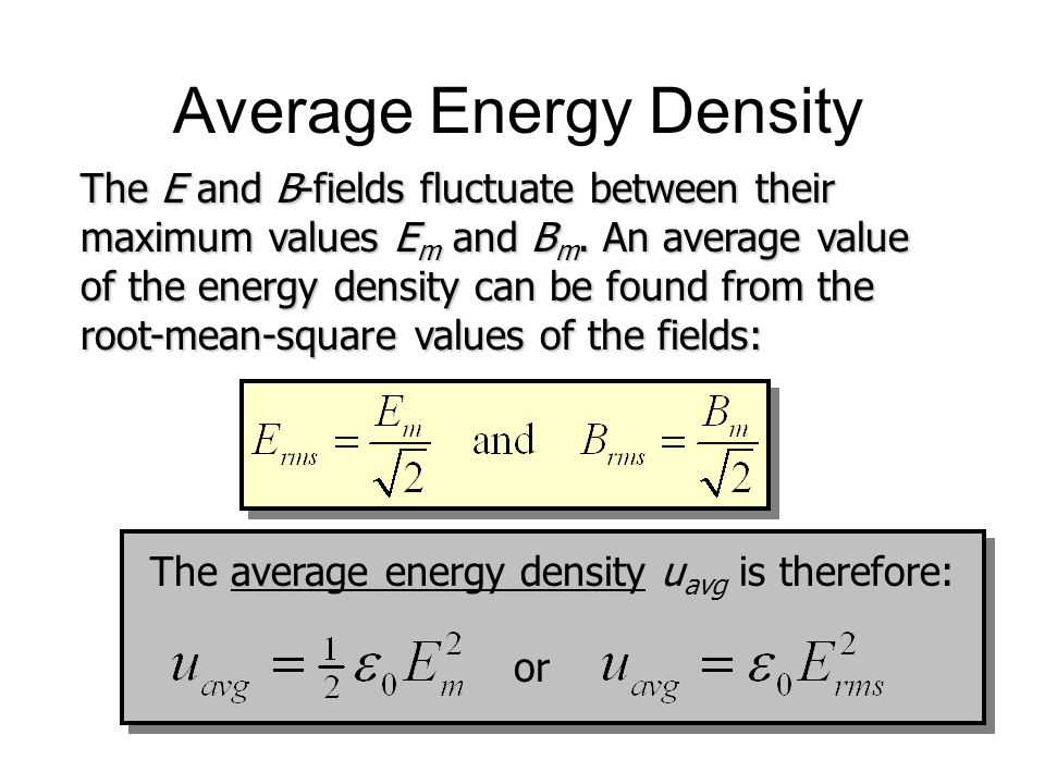 Average Energy Density