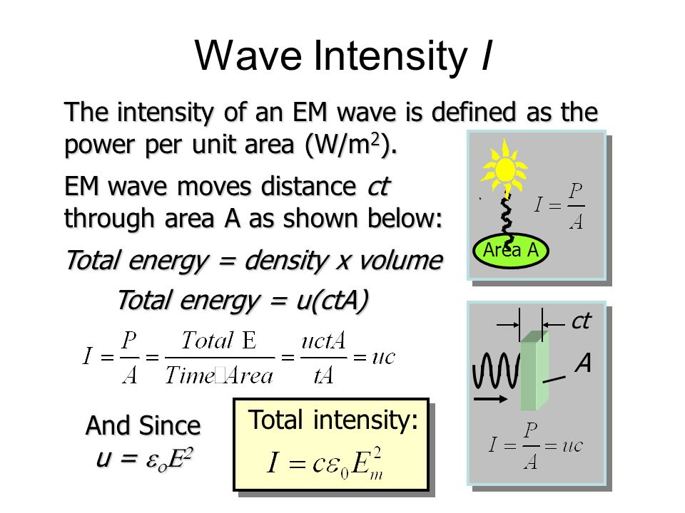 Total energy = density x volume