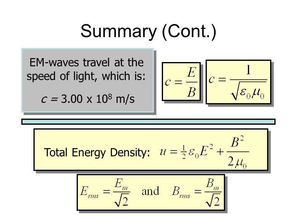 EM-waves travel at the speed of light, which is: