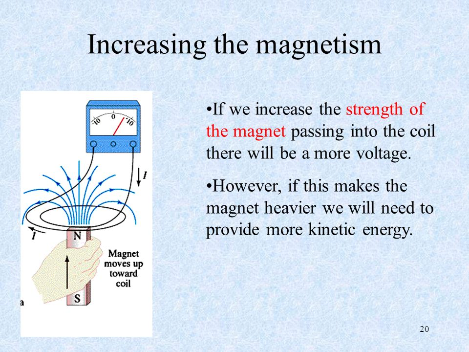 Increasing the magnetism